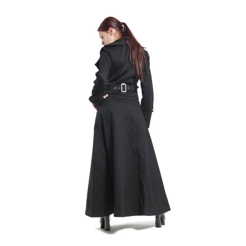 Für SchwarzBaumwollejd108 DamenZweireiher Gothic Langer Mantel 29EDHWI