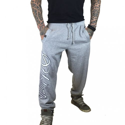 "YAKUZA - Herren Jogginghose JOB 7040 ""Lettering"" light grey melange (hellgrau)"