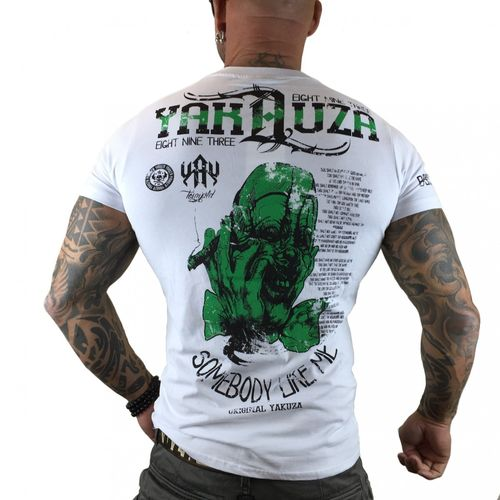 "YAKUZA - Herren T-Shirt TSB 7009 ""Somebody Like Me"" white (weiß) Horror Clown"