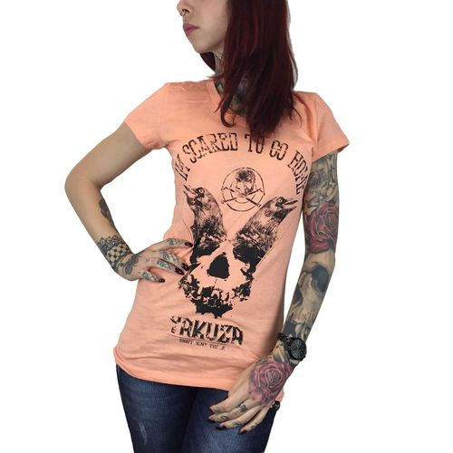 "YAKUZA - Damen T-Shirt (Girlie) GSB 7113 ""Scared To Go Home"" papaya punch (orange)"