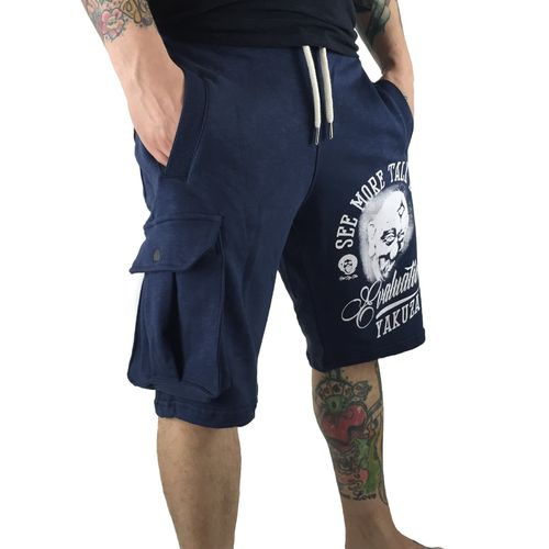 "YAKUZA - Cargo Sweat Shorts SSB 8057 ""Evaluation"" mood indigo (blau)"