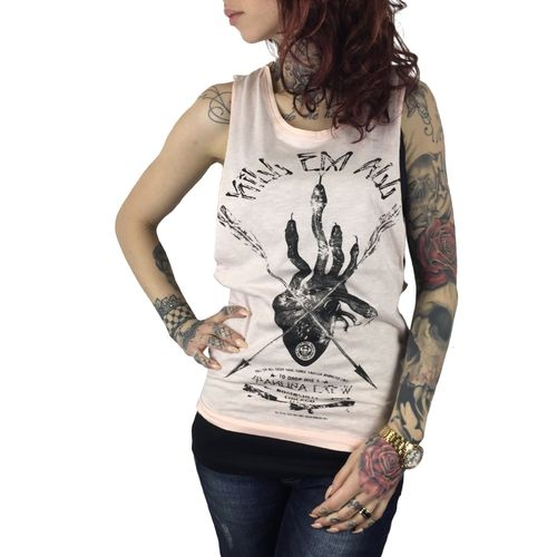 "YAKUZA - Damen Tank Top (Shirt) GSB 7102 ""Kill 'Em All"" scallop shell"