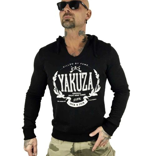 "YAKUZA - Herren Hoodie HOB 10058 ""Killed By Fame"" black (schwarz)"