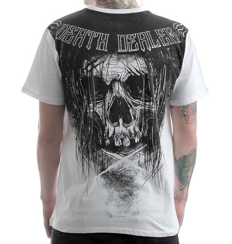 "HYRAW - Herren T-Shirt ""Death Dealer - Brigade"" white/black (weiß/schwarz)"