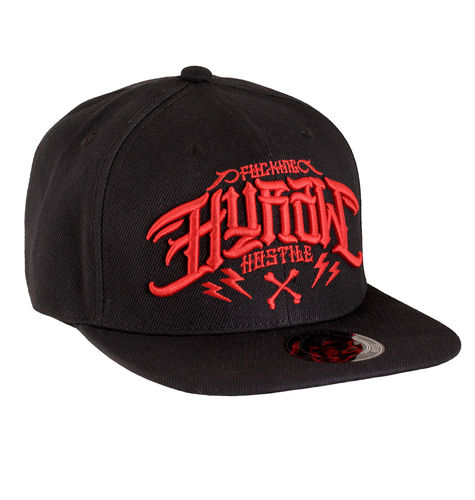 "HYRAW - Snap Back Cap ""Red Logo"" black / red (schwarz / rot)"