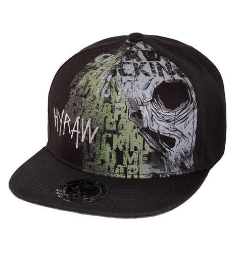 "HYRAW - Snap Back Cap ""Land"" black / olive (schwarz / oliv)"