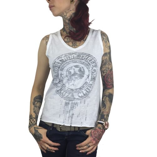 "YAKUZA - Damen Tank Top (Shirt) GSB 8119 ""Soldier"" white (weiß)"