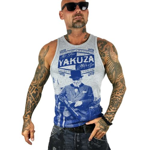 "YAKUZA - Herren Tank Top UHB 10053 ""UNTD"" light grey melange (grau)"