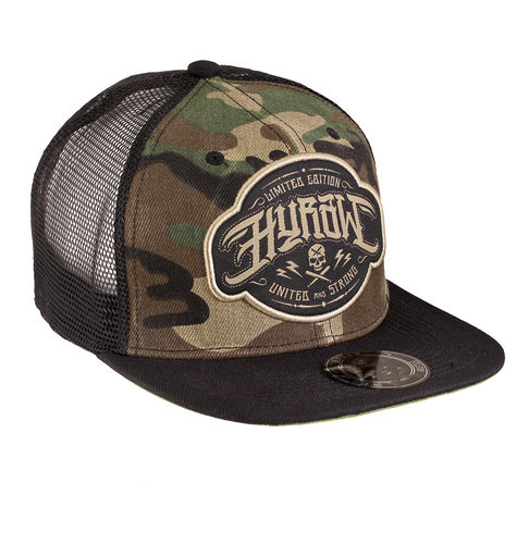 "HYRAW - Snap Back Trucker Cap ""Death To Hipsters"" camouflage (tarn)"