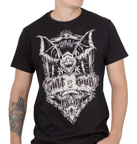 "HYRAW - Herren T-Shirt ""Cult Of Evil"" black (schwarz)"