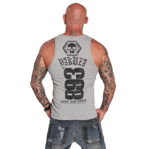 "YAKUZA - Herren Tank Top UHB 12026 ""Two Face"" light grey melange (grau)"