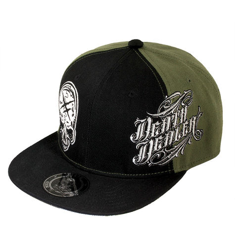 "HYRAW - Snap Back Cap ""Death Dealer"" black / olive (schwarz / oliv)"