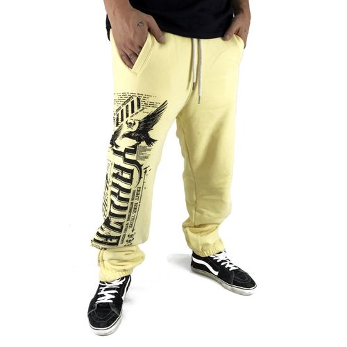 "YAKUZA - Herren Jogginghose JOB 9039 ""Commandments"" pale banana (gelb)"