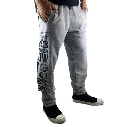 "YAKUZA - Herren Jogginghose JOB 8037 ""Blow It Out"" light grey melange (grau)"