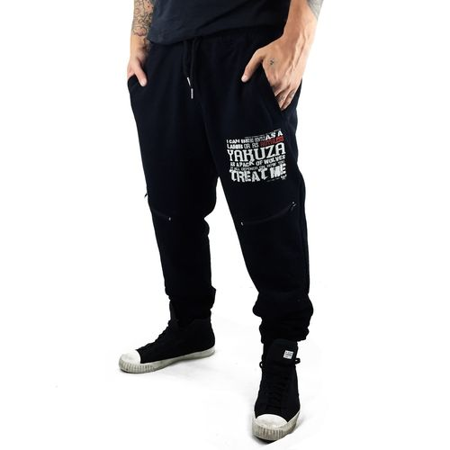 "YAKUZA - Herren Anti Fit Jogginghose JOB 9052 ""Ruthless"" black (schwarz)"