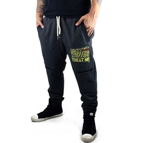 "YAKUZA - Herren Anti Fit Jogginghose JOB 9052 ""Ruthless"" dark grey melange (dunkelgrau)"