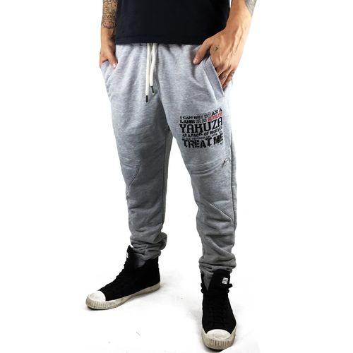 "YAKUZA - Herren Anti Fit Jogginghose JOB 9052 ""Ruthless"" light grey melange (grau)"