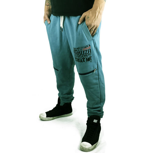 "YAKUZA - Herren Anti Fit Jogginghose JOB 9052 ""Ruthless"" smoke blue (grautürkis)"