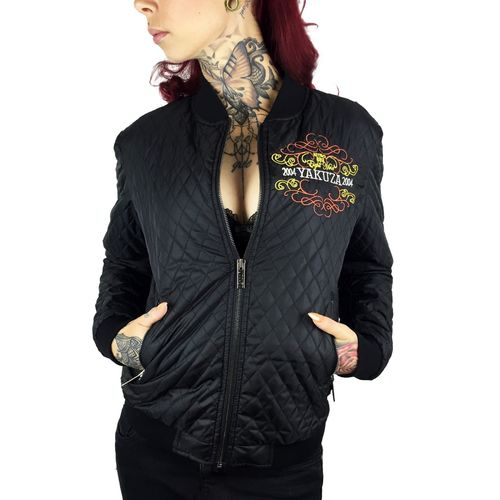 "YAKUZA - Damen Quilted Jacket / Steppjacke GJB 9148 ""Tribes"" black (schwarz)"