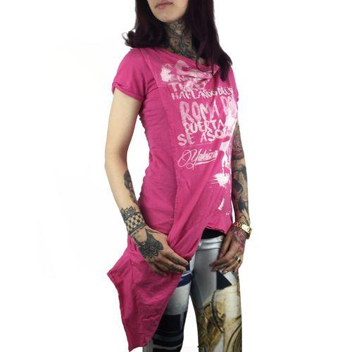 "YAKUZA GSB 11124 /""Daily Skull/"" fuchsia rose Girlie Damen T-Shirt rosa"