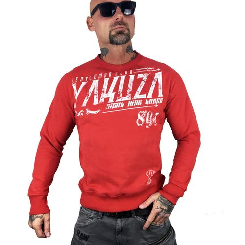 "YAKUZA - Herren Pullover PB 9034 ""Gentleman Club"" ribbon red (rot)"