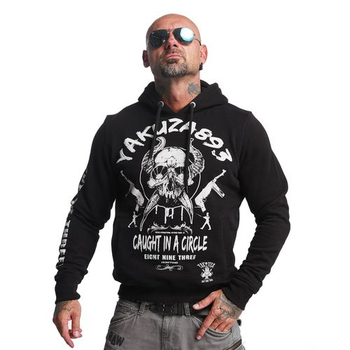 "YAKUZA - Herren Hoodie HOB 10023 ""Caught In A Circle"" black (schwarz)"