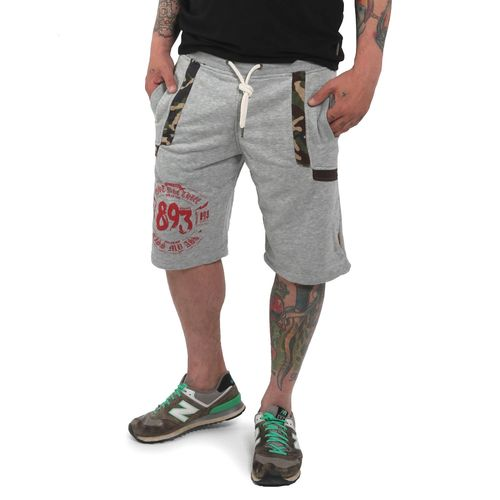 "YAKUZA - Sweat Shorts SSB 12048 ""Urban"" light grey melange (grau)"