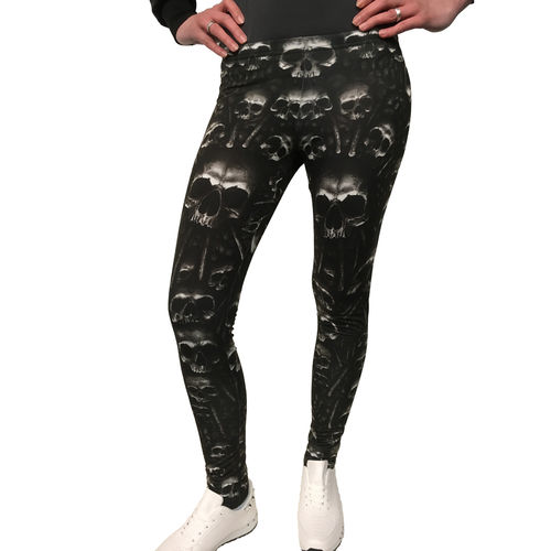 SPIRAL - Catacomb - Leggings (black Womens Gothic Skull Leggings) schwarz