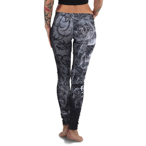 "YAKUZA - Leggings LEB 13154 ""Ornamental Skull"" black (schwarz/weiß)"