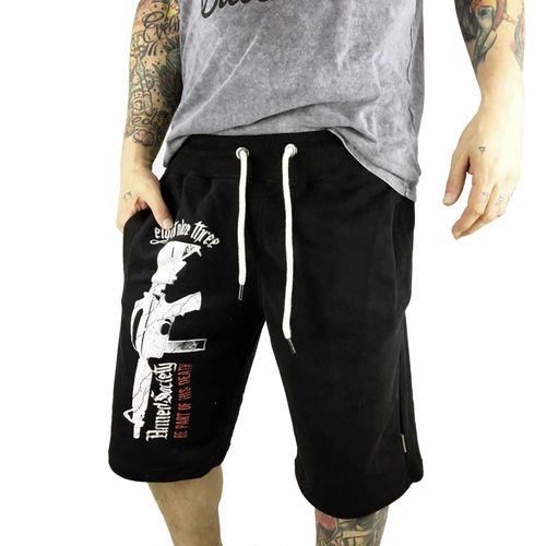 "YAKUZA - Sweat Shorts SSB 10038 ""Armed Society"" black (schwarz)"