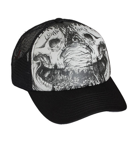 "HYRAW - Snap Back Trucker Cap ""Cemetery"" black (schwarz)"