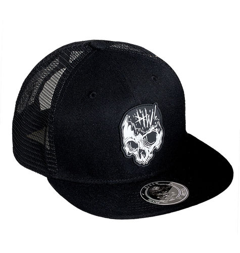 "HYRAW - Snap Back Trucker Cap ""Skull"" black (schwarz)"