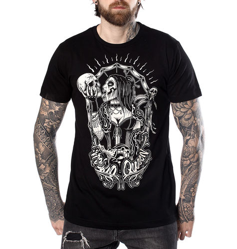 "HYRAW - Herren T-Shirt ""Voodoo Queen"" black (schwarz)"