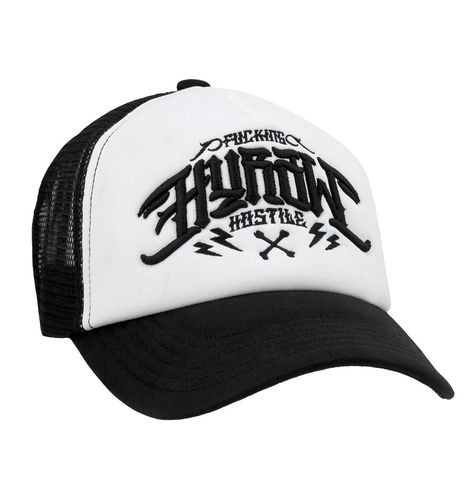 "HYRAW - Snap Back Trucker Cap ""Logo"" black/white (schwarz/weiß)"