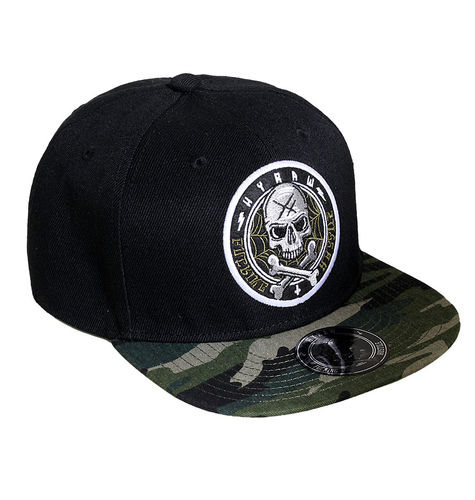 "HYRAW - Snap Back Cap ""Basic"" black / camouflage (schwarz / tarn)"