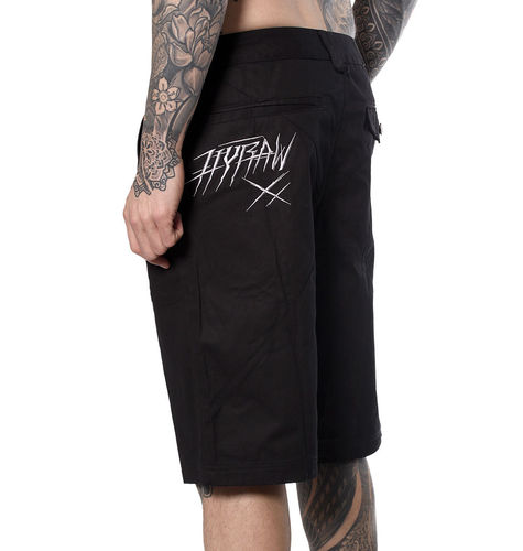 "HYRAW - Herren Shorts ""Hyraw White"" black (schwarz)"