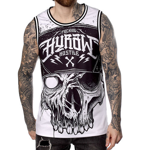 "HYRAW - Herren Basketball Tank Top ""Infectious"" white (weiß)"
