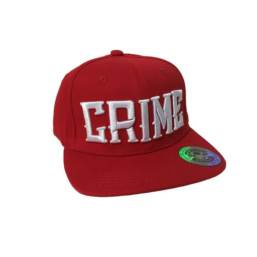 "MAFIA & CRIME - Basecap ""Crime"" red (rot)"
