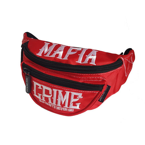 "MAFIA & CRIME - Gürteltasche MC 496 ""Old Habits"" red (rot)"