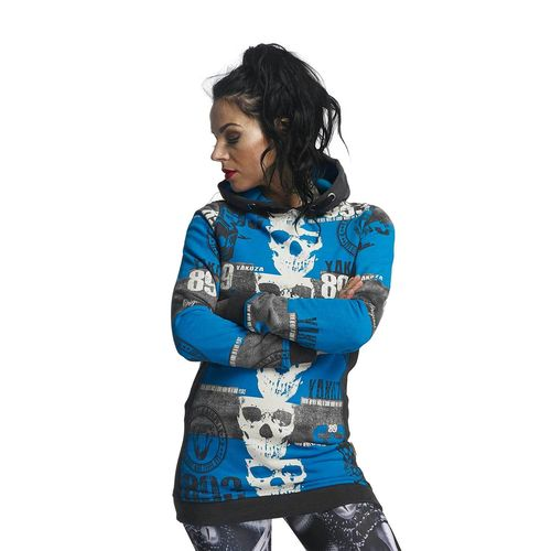 "YAKUZA - Damen Flex Long Hoodie GLHOB 11107 ""Reel"" dark shadow (blau)"