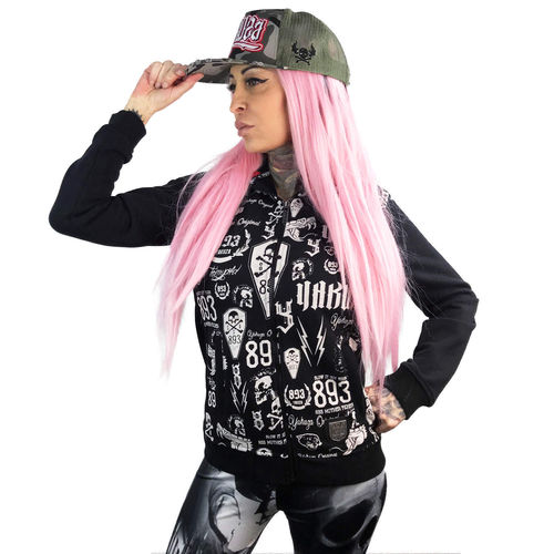 "YAKUZA - Damen Flex Kapuzenjacke GHZB 11112 ""Allover Label"" black (schwarz)"