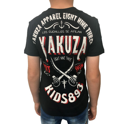 "YAKUZA - Kinder T-Shirt TSB 10404 Kids ""Fight Faith"" black (schwarz)"