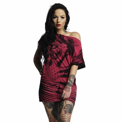 "YAKUZA - Kleid GKB 10125 ""Root Girl"" black (schwarz / rosarot)"