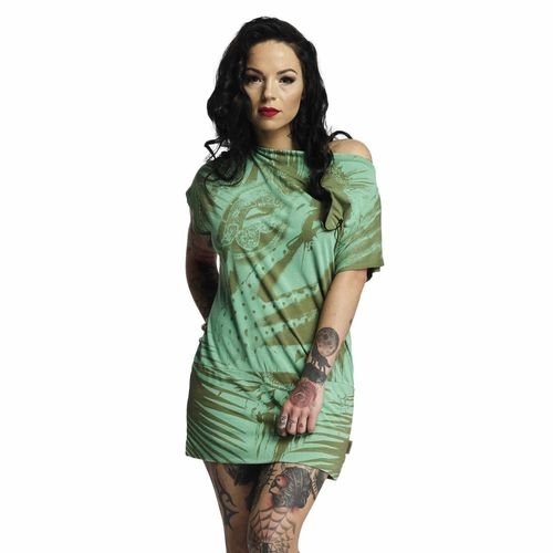 "YAKUZA - Kleid GKB 10125 ""Root Girl"" pesto (grün)"