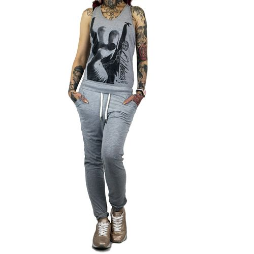 "YAKUZA - Damen Jumpsuit GJUB 9132 ""Rocker"" light grey melange (grau)"