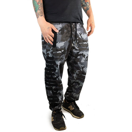 "YAKUZA - Herren Jogginghose JOB 12052 ""Daily Use"" camouflage grey (tarn)"