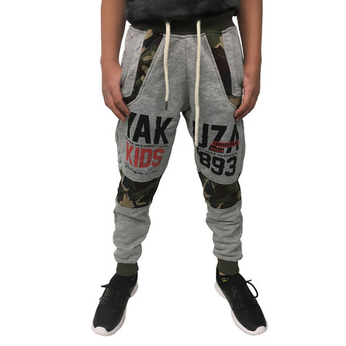 "YAKUZA - Kinder Jogginghose JOB 10408 Kids ""Warrior"" light grey melange (grau)"