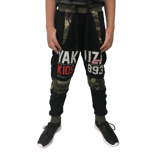 "YAKUZA - Kinder Jogginghose JOB 10408 Kids ""Warrior"" black (schwarz)"