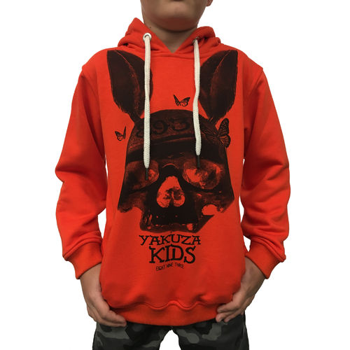 "YAKUZA - Kinder Hoodie HOB 10407 Kids ""Dead Bunny"" blazing orange"
