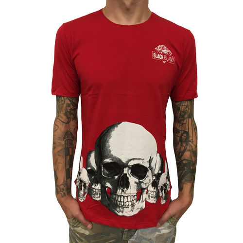 "BLACK ISLAND - Herren T-Shirt 1920 ""Skulls"" red (rot)"
